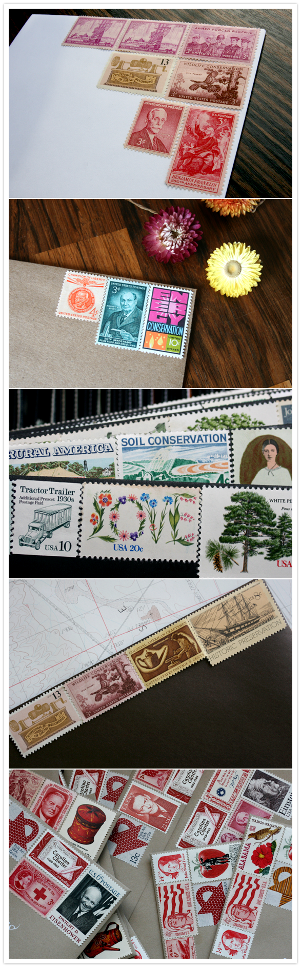Vintage Stamps and how to find them | Wedding Inspiration | 100 Layer Cake